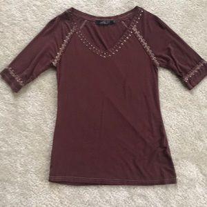 BKE Boutique 3/4 Length Shirt